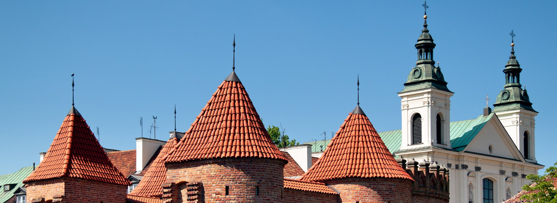 Glorious old roofs in the Old Town in Warsaw