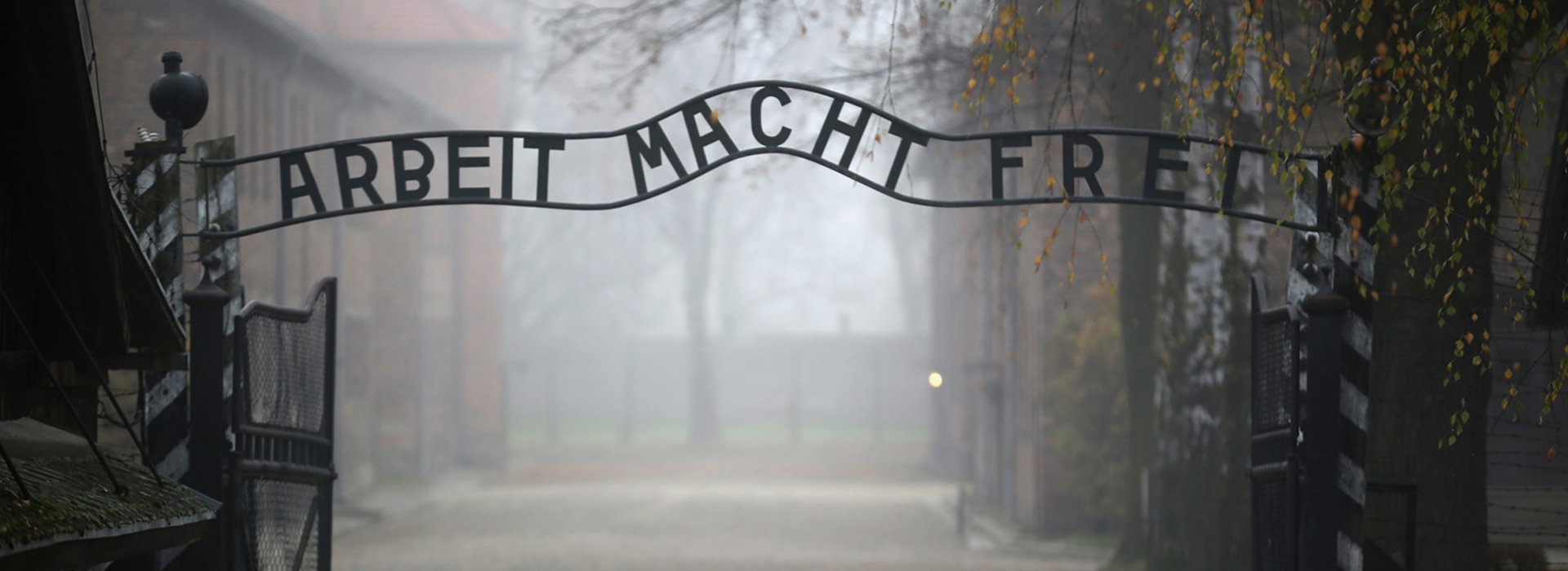 The main gate to Concentration Camp Auschwitz